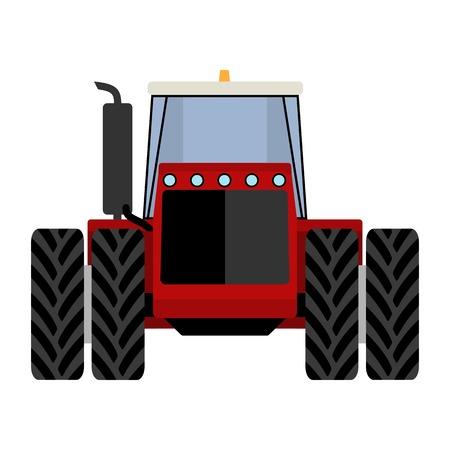 hydraulic platform: Tractor rojo grande en un fondo blanco