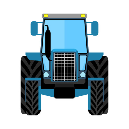 agronomics: Wheeled tractor on a white background