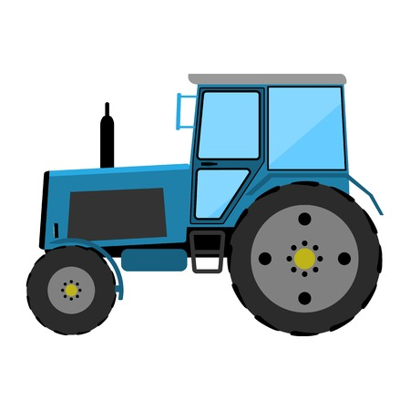 wheeled tractor: Wheeled tractor on a white background