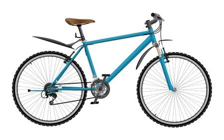 Mountain bike isolated on white background Illustration