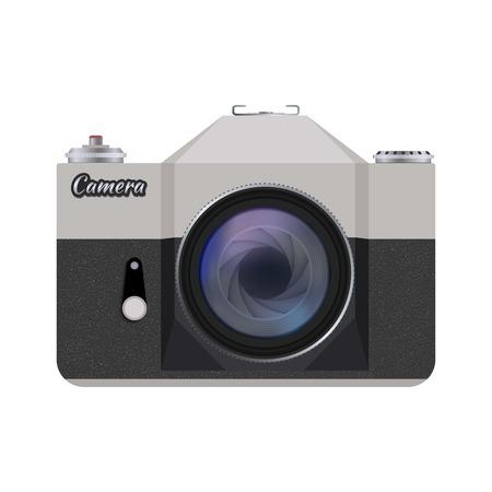 illustration of detailed icon representing retro style camera Illustration