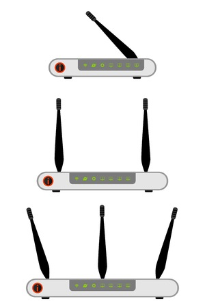 wlan: Wireless ADSL Router Icon. Vector Illustration on white background Illustration