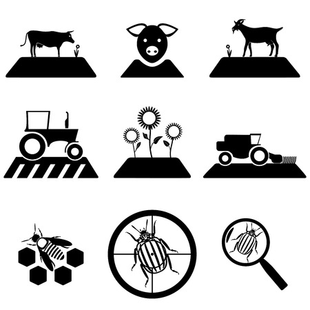 Vector agricultural set isolated on white background Vector