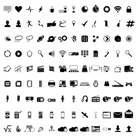 Communication icons. Web icons set. Internet icons collection. Vector
