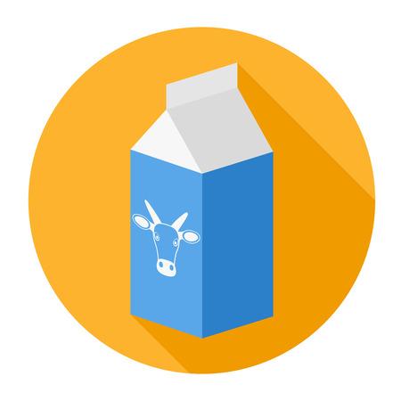 Package, melk box - vector icon Stock Illustratie