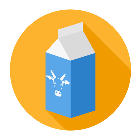 food package: Package, milk box - vector icon