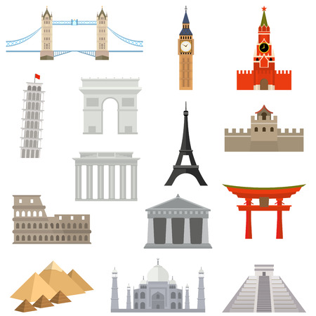 pisa tower: countries of the world vector logo design template. architecture, monument or landmark icon. Illustration