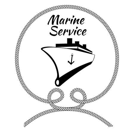 Black and White Company Logo Graphic Design for Ship Cargo Companies Illustration