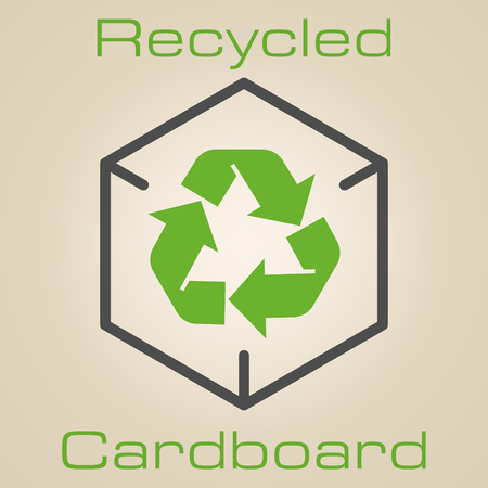 environmentally friendly: recycled cardboard - environmentally friendly packaging logo