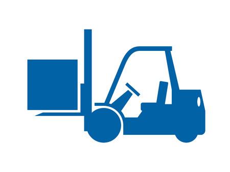 transportation facilities: Forklift truck icon