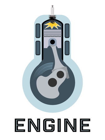 moto: Moto engine symbol - the moment of ignition of fuel