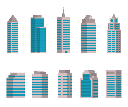 midtown: Vector illustration of Building icon on white background Illustration
