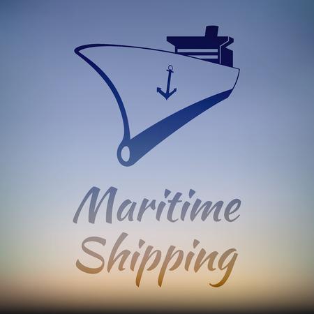 logotipo turismo: Transporte Marítimo - Logotipo de la empresa Diseño gráfico para la nave de carga Empresas