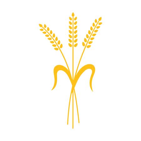 小麦、大麦やライ麦の耳のベクトルのビジュアル グラフィック アイコン、食パンの包装に最適なビール ラベル等