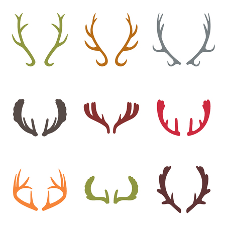 set of vintage deer antlers