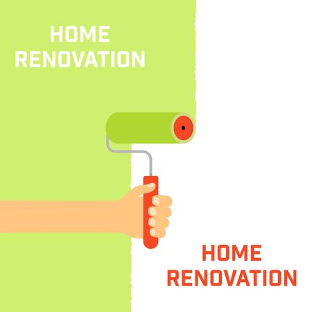home renovation: Home renovation concept. The emblem of home repair.
