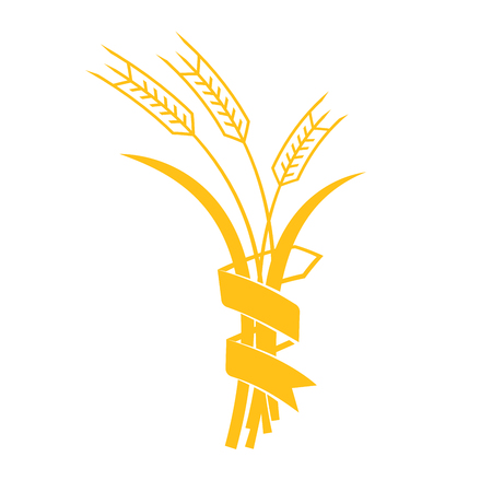 rye: Ears of Wheat, Barley or Rye vector visual graphic icons, ideal for bread packaging, beer labels etc.