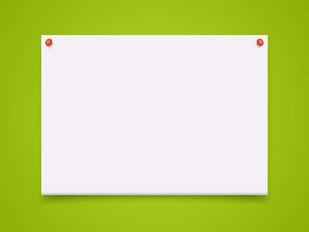 a4: Vector A4 mockup isolated on green background