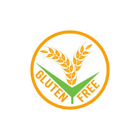 Gluten free vector label sign