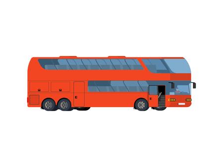Red double-Decker big tour bus