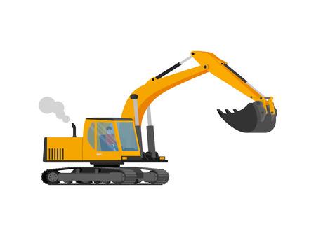 quarry: Construction excavator with big shovel