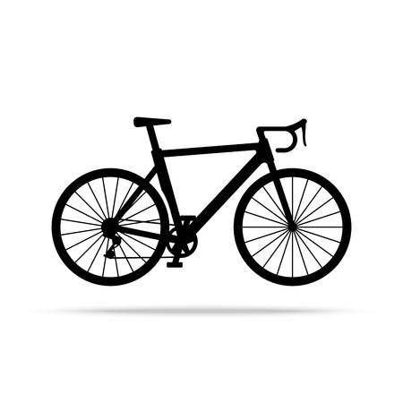 Bicycle icon. Bike Vector isolated on white background. Flat vector illustration in black. EPS 10