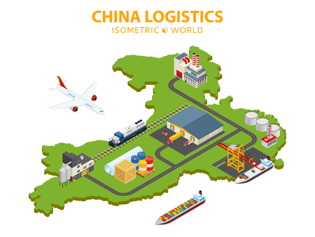 Global shipping and logistics 向量圖像