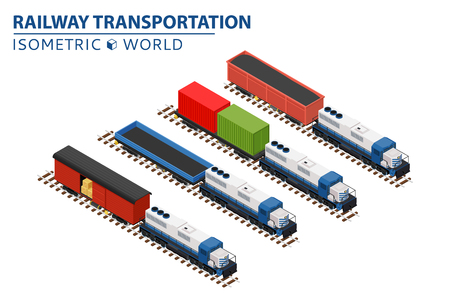 electricity export: Set of railway trains consisting of locomotives, platforms for transportation of containers, covered wagons, and rail cars for bulk cargoes.