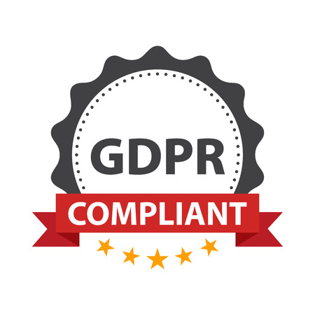 European GDPR Ready badge template. Illustration