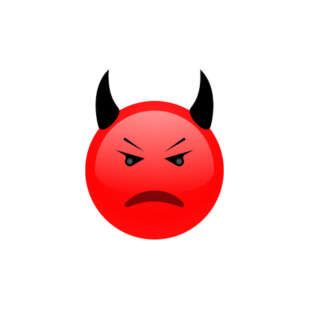 Angry face. Angry icon. Triste emotion.Vector illustration.