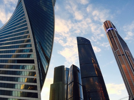Moscow City - view of skyscrapers.