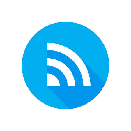 Wifi icon vector Flat network sign or symbol. For mobile user interface 向量圖像