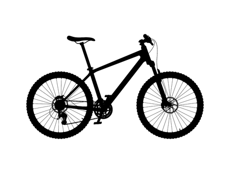 Vector silhouette of hardtail mountain bike