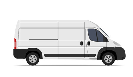 Cargo Van Mini Bus vector template for Mockup Advertising and Corporate identity on transport. Easy to edit layout.