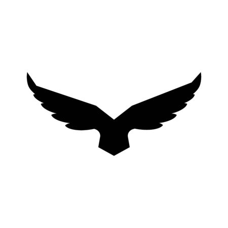 Falcon soaring rising Wings Logo design vector template.Luxury corporate heraldic flying Eagle Phoenix Hawk bird Illustration