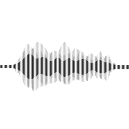Vector Sound Waveforms. Sound waves and musical pulse icons.  イラスト・ベクター素材