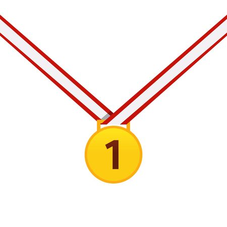 Gold medal isolated on a white Stock Illustratie