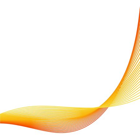 Abstract orange wave vector background