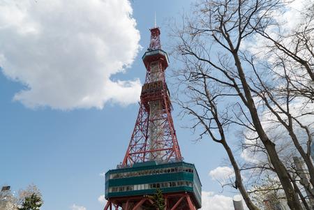 sapporo: sapporo hokkaido japan , sapporo TV tower , odori park, april Editorial