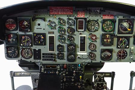 Helicopter cockpit instrument Banco de Imagens