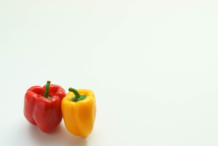 Peppers. Paprika. Bell pepper isolated on white Standard-Bild