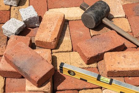 Tool for brick flooring