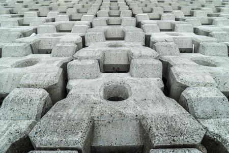 Wave-dissipating blocks