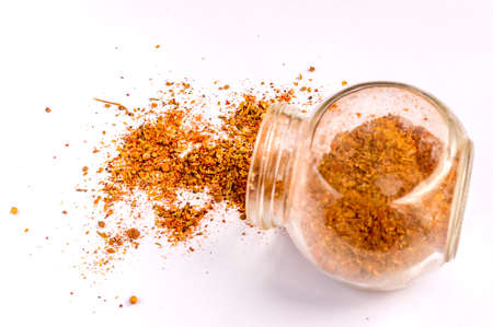 spices in jar isolated Banque d'images