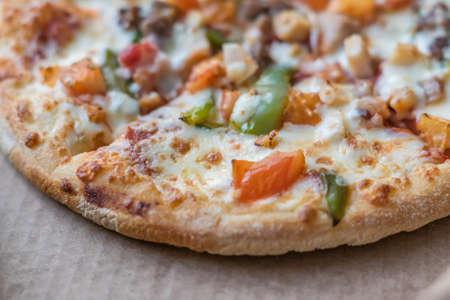 closeup of delicious italian pizza