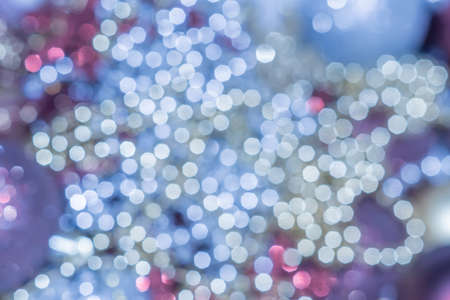 Defocused christmas toys. Abstract bokeh background