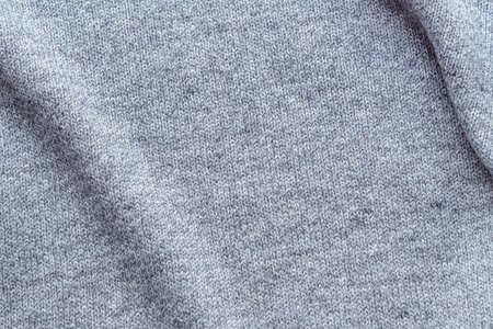 knitted grey fabric background