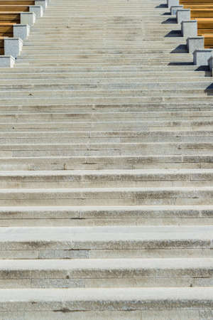 Granite stairs steps outdoors, construction detail