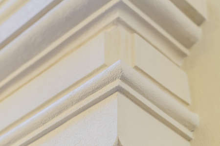close up of stucco molding background