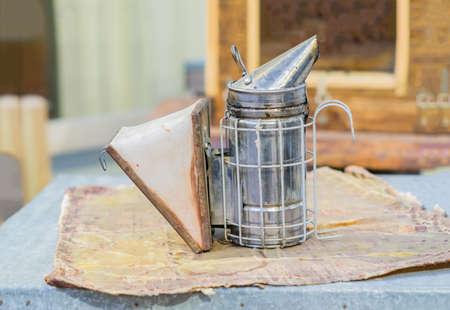 old metal bee smocker for beekeeping